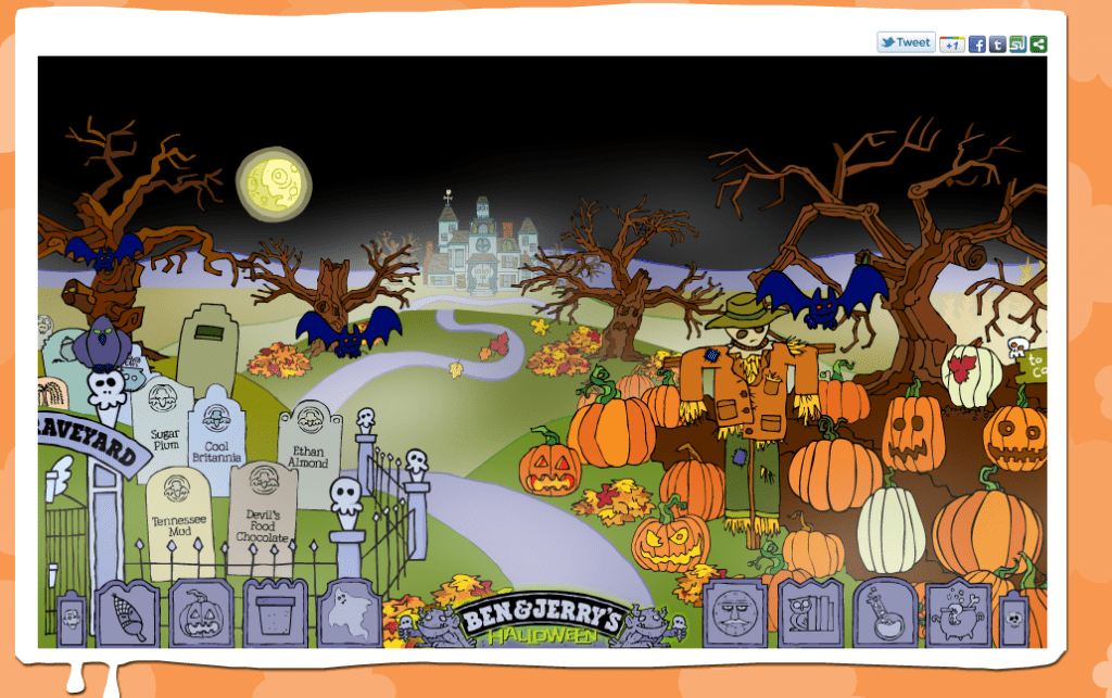 Halloween-Themed Ben and Jerry Website
