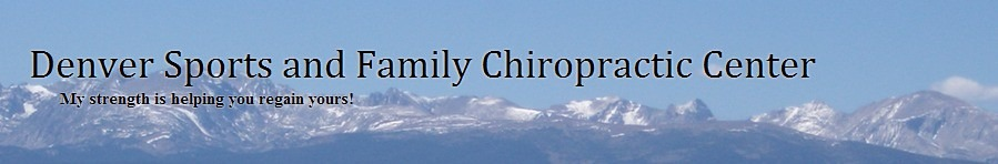 The old branding for the Denver Sports and Family Chiropractic Center.