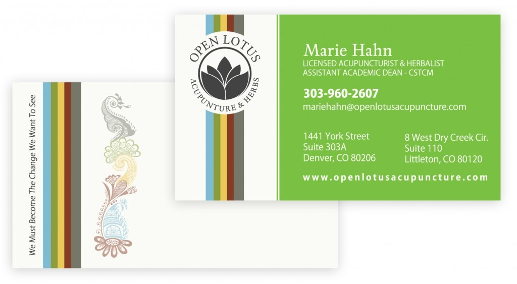 Example business cards for Open Lotus.