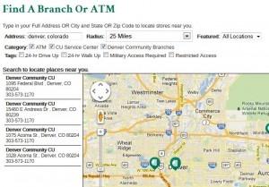 Denver Community Credit Union ATM Locator
