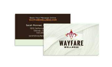 FiG's Business card design for Wayfare Wellness