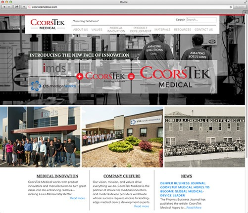 coorstek medical website