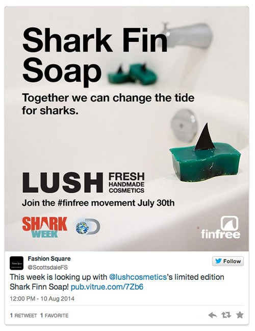 Lush Cosmetics Shark Week