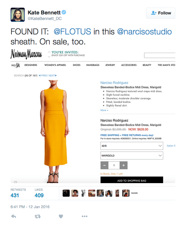 flotus dress on twitter