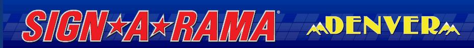 The logo for our new client, Sign A Rama in Denver.