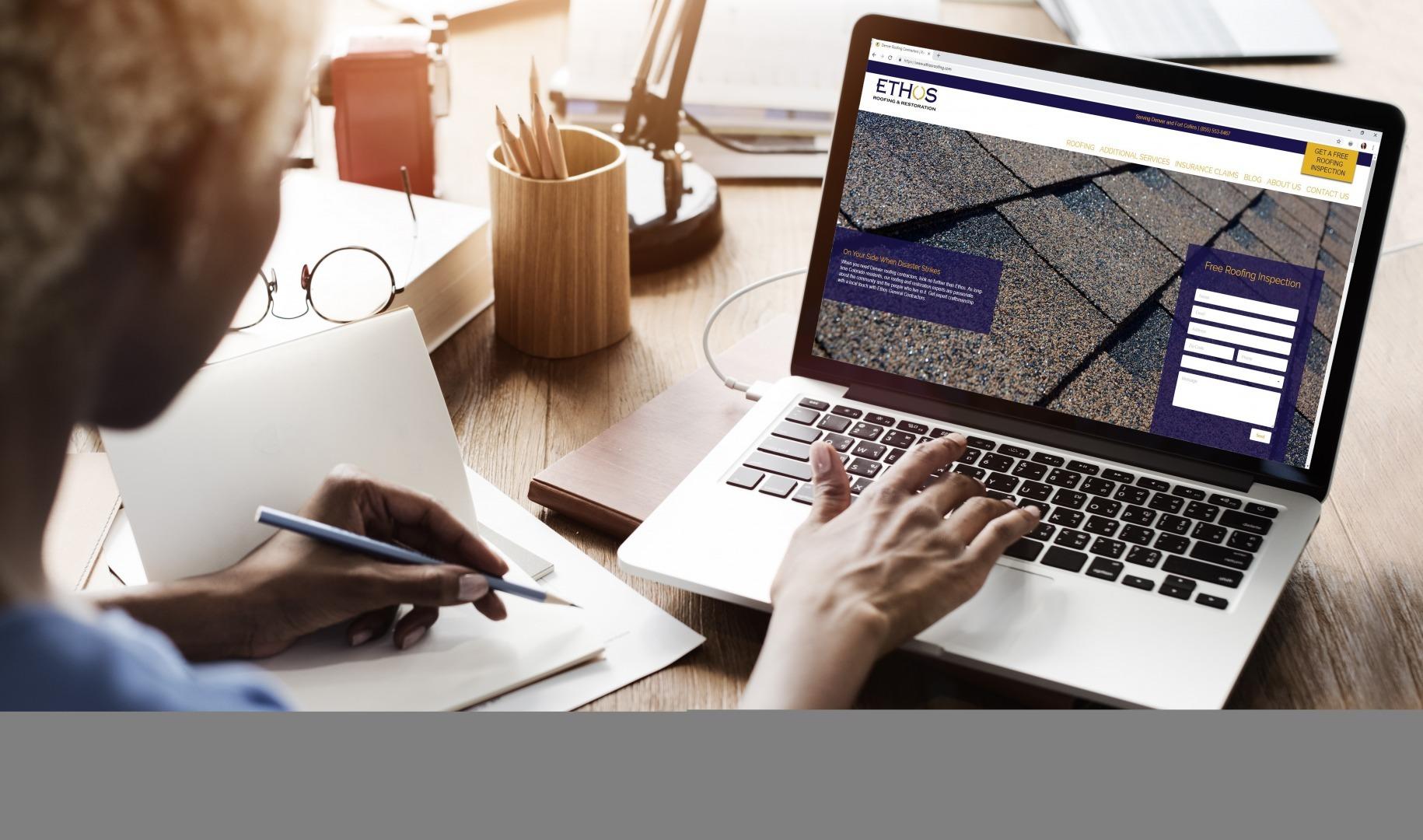 Ethos Roofing Website