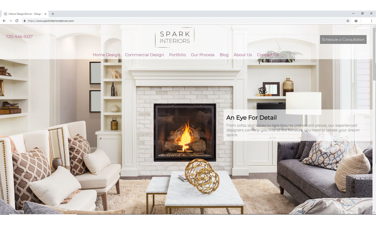Spark Interiors Website