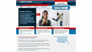 Great Plains Moving And Storage Website Design - By FiG