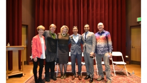 Pictured from left: Janet Eden-Harris, Meghan Liefeld, Marilyn Heywood Paige, Bob Kumagai, Sameer Bawa,, and Kevin Raines.